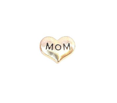 Floating Charms. Floating charm mom hartje goud voor de memory locket
