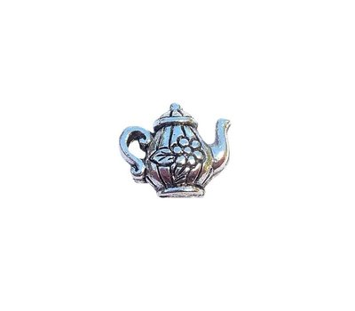 Floating Charms Floating locket charm theepot zilver