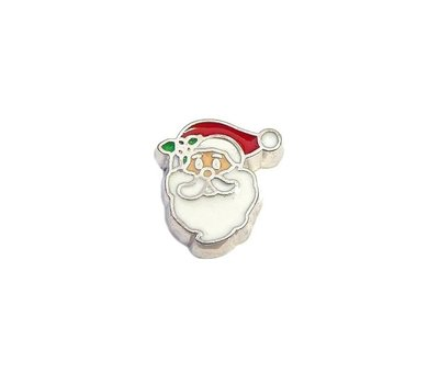 Floating Charms Floating locket charm santa gezicht