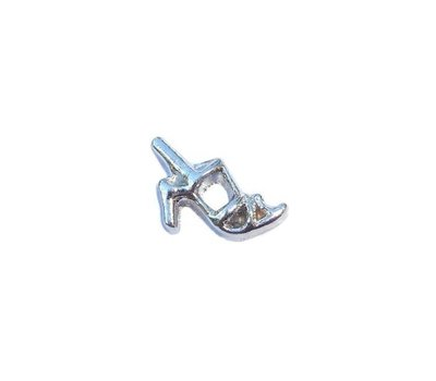 Floating Charms Floating charm pump zilver voor de memory locket