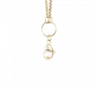 Ketting zonder hanger Gouden rvs medium loop ketting