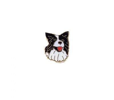 Floating Charms Floating locket charm border collie goud