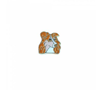 Floating Charms Floating locket charm collie goud