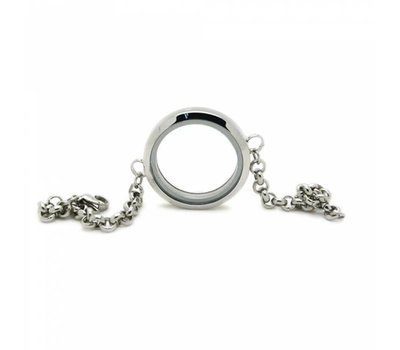 Floating memory lockets Twist rvs zilveren memory locket armband