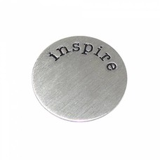 Floating Charms Floating locket disk inspire zilver