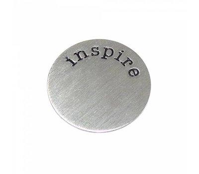 Floating Charms Floating locket disk inspire zilver