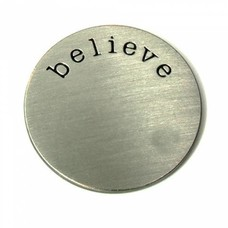 Floating locket  discs Memory locket disk believe zilver