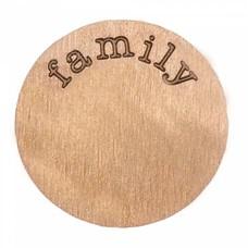 Locket Disks Floating locket disk family rose goud