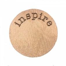 Locket Disks Floating locket disk inspire rose goud