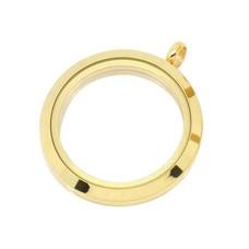 Floating locket Gouden memory locket twist rond XL