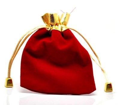 Luxe cadeauzakje rood met goud