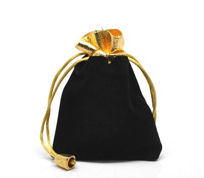 Luxe cadeauzakje zwart met goud