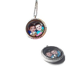 Floating locket  discs Memory locket foto disk large