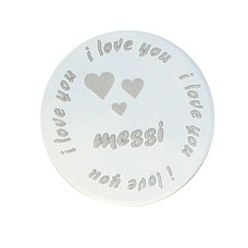 Locket Disks I love you naam disk rond Large
