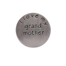 Floating locket  discs Memory locket disk i love my grandmother zilver large