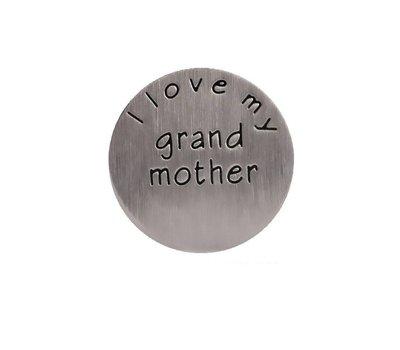 Locket Disks Floating locket disk i love my grandmother zilver