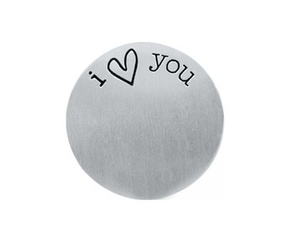 Locket Disks Floating locket disk i love you zilver