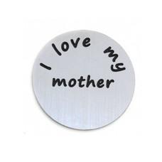 Locket Disks Floating locket disk i love my mother zilver