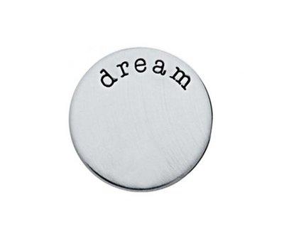 Floating locket  discs Memory locket disk dream zilver large