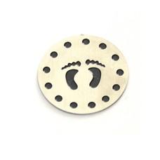 Floating locket  discs Memory locket disk voetjes large