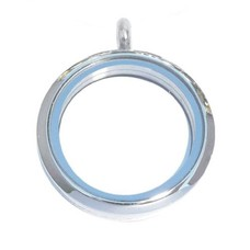 Floating locket Zilveren memory locket rond XL