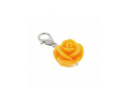 Clip on charms Roosje dangle oranje