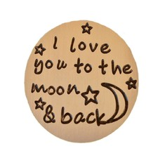 Floating locket  discs Memory locket disk i love you to the moon goud large
