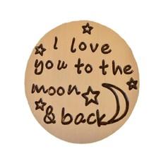 Locket Disks Floating locket disk i love you to the moon goud
