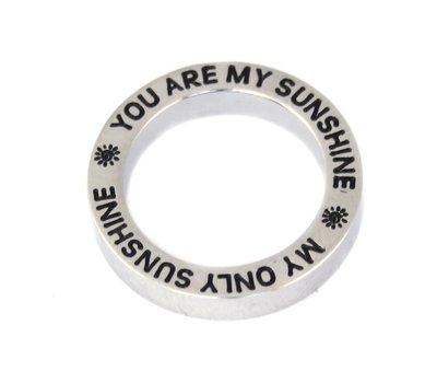 Locket Disks Floating locket open disk You Are My Sunshine