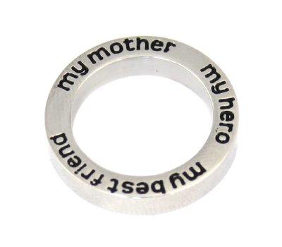 Floating locket  discs Memory locket open disk my mother zilver large