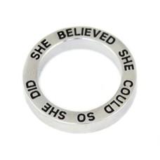 Floating locket  discs Memory locket open disk she believed zilver large