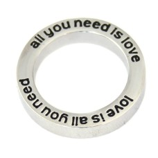 Locket Disks Floating locket open disk all you need is love love is all you need