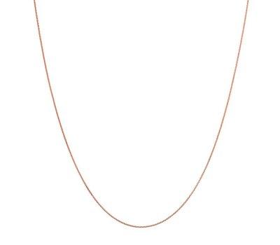 Gepersonaliseerde ketting Ketting rosé goud voor de gepersonaliseerde Ketting