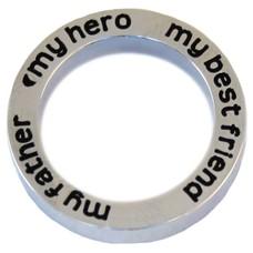 Floating locket  discs Memory locket open disk my father my hero zilver large