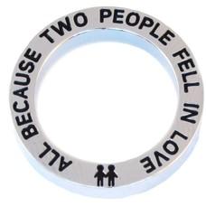 Locket Disks Floating locket open disk two people in love