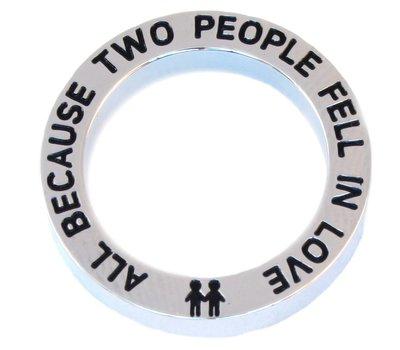 Floating locket  discs Memory locket open disk two people zilver large