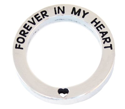 Floating locket  discs Memory locket open disk forever in my heart zilver large