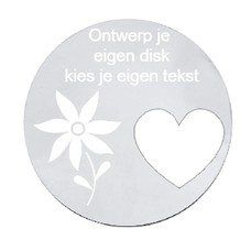 Floating locket  discs Memory locket ontwerp je eigen disk zilver large