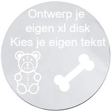Floating locket  discs Memory locket ontwerp je eigen disk zilver XL
