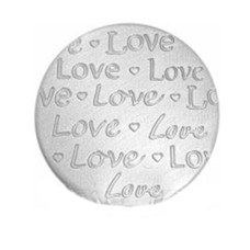 Locket Disks Floating locket handgeschreven disk love zilver