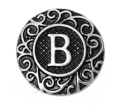 Clicks en Chunks | Click letter B zilver