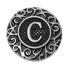 Clicks / Chunks Click letter C zilver