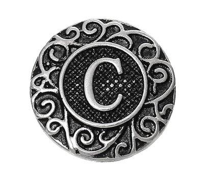 Clicks en Chunks | Click letter C zilver