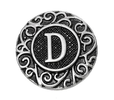 Clicks / Chunks Click letter D zilver