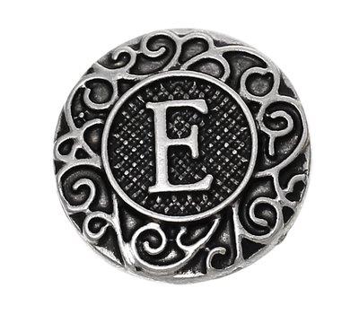 Clicks en Chunks   Click letter E zilver voor clicks sieraden