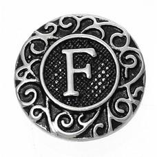 Clicks en Chunks | Click letter F zilver