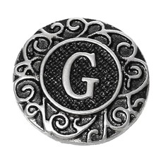Clicks en Chunks | Click letter G zilver