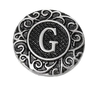 Clicks en Chunks   Click letter G zilver