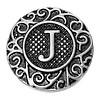 Clicks en Chunks | Click letter J zilver voor clicks sieraden