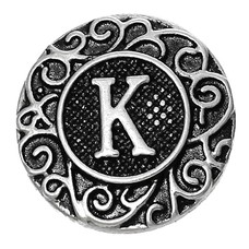 Clicks / Chunks Click letter K zilver